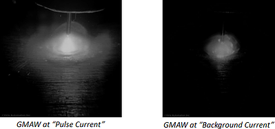 GMAW in Pulse Current & Background Current
