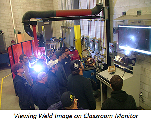 Students viewing images from a Weld Camera