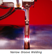 Remote weld monitoring of Narrow Groove Welding is necessary to achieve maximum weld process quality control.