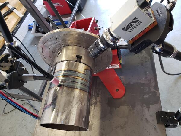 XVC-1000 camera set up to capture our welding lab