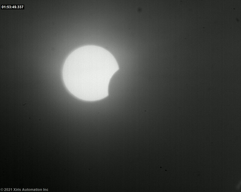 Weld Camera Image of Eclipse