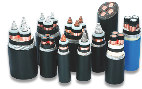Various High Voltage Cable Samples