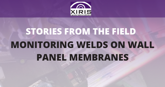Monitoring welds on wall panel membranes